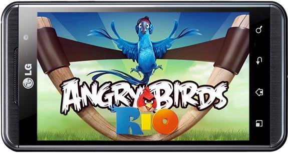 Angry Birds Rio on Optimus 3D