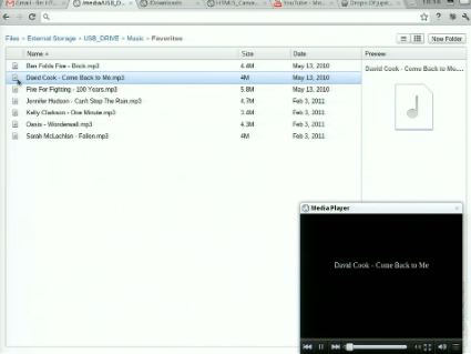 Chrome OS File Manager Musik