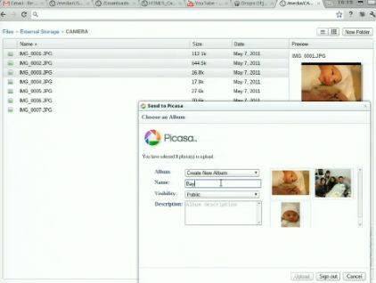 Chrome OS File Manger Picasa