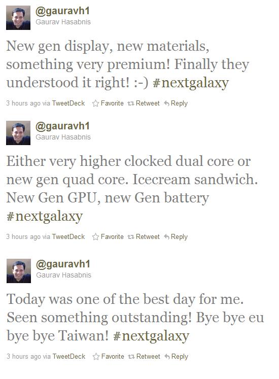 GALAXY S III tweets