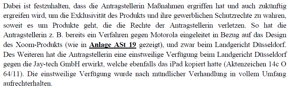 Apple suing Motorola in Dusseldorf Germany over Xoom tablet design