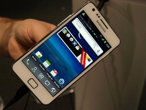 Samsung Galaxy S 2 in weiß