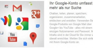 google konto screenshot