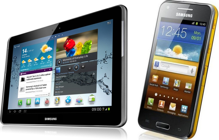 galaxy tab 2 und galaxy beam