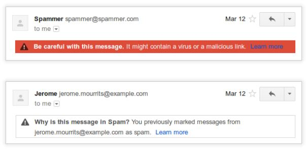 google mail spam