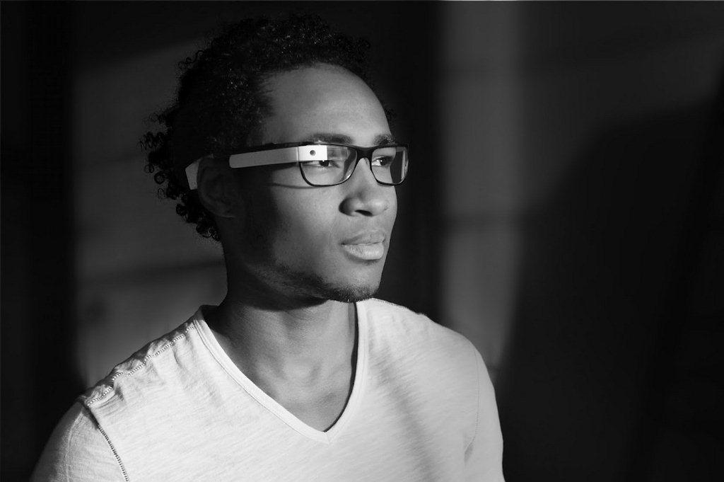 black and white-glasses