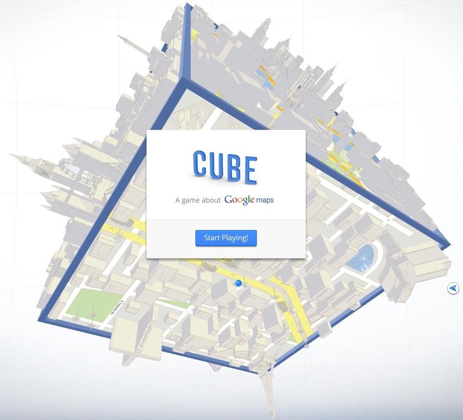 google maps cube