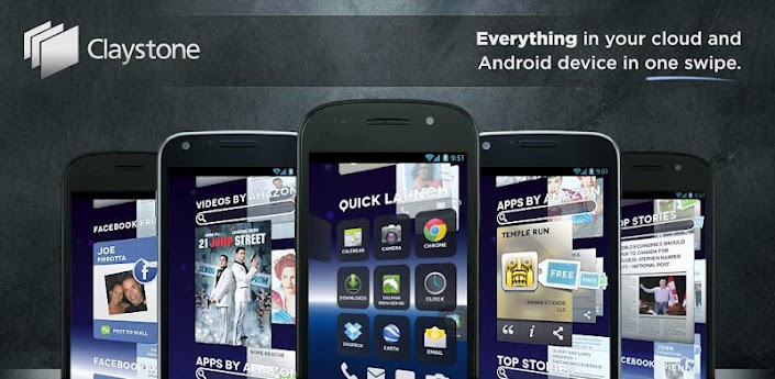 Claystone Launcher Android Header