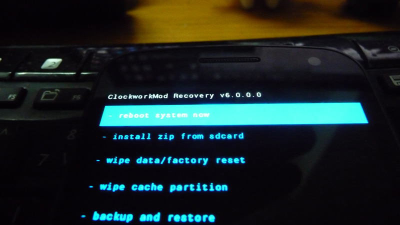 ClockworkMod Recovery 6 screensht