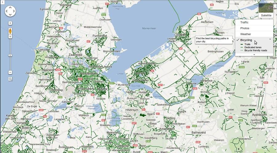 Google Maps Fahrradwege