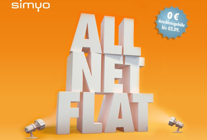 All-Net-Flat Simyo Anschlussgebühr August