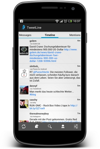TweetLine Screenshot