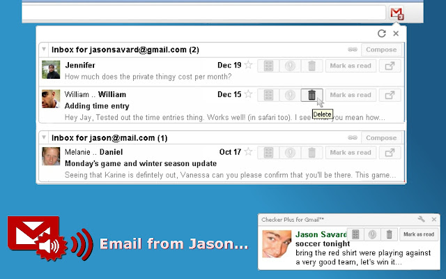 Checker Plus for Gmail Screenshot