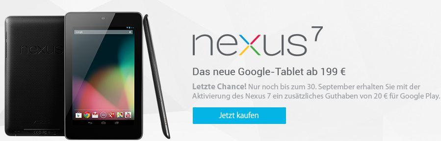 Google Nexus 7 30. September