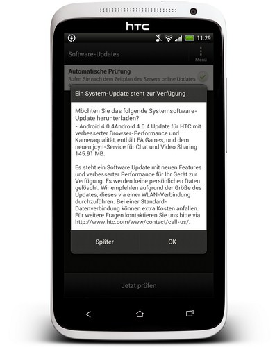 HTC One X Vodafone Android 4.0.4-Update