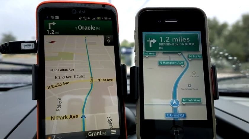 ios 6 maps vs google maps
