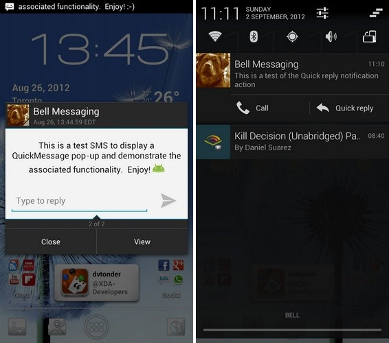 Quick Message CM10 Screenshots