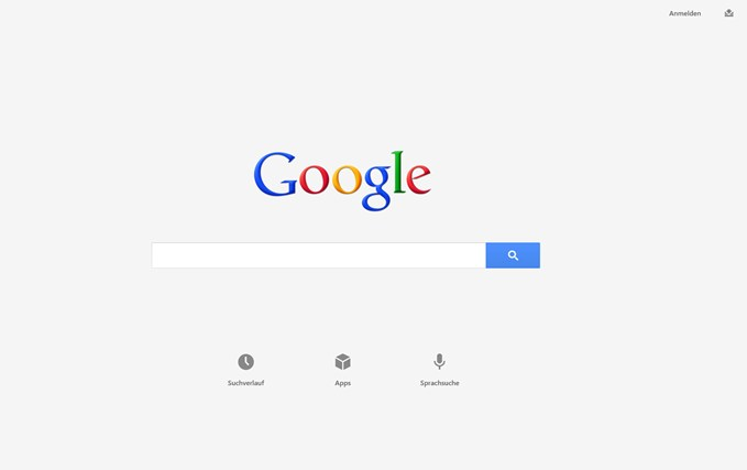Google App Windows 8 Screenshot