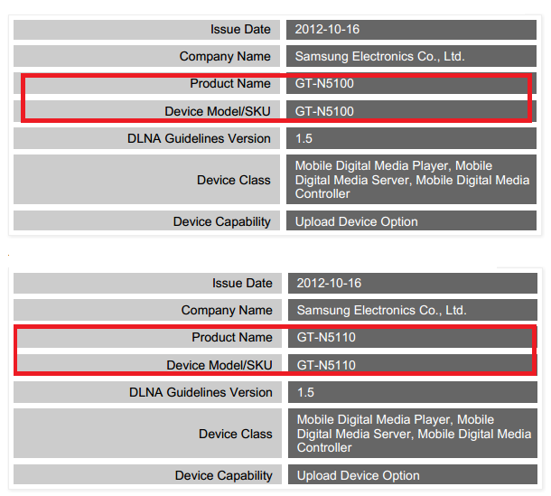 GT-N5100-and-GT-N5110-DLNA-Certification