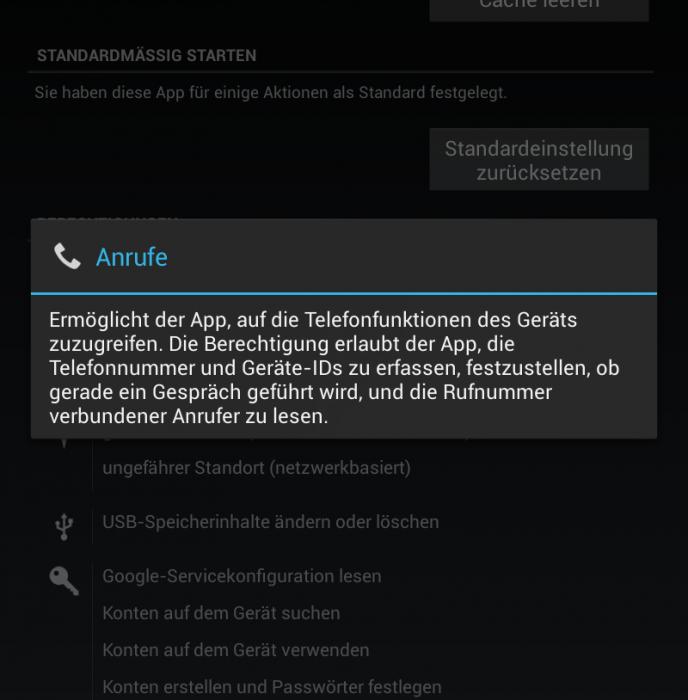 Android 4.2 App Verifizierung
