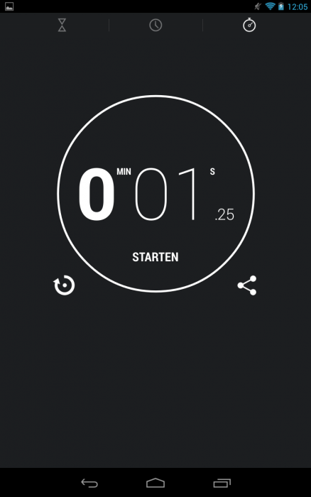 Android_4.2_Test_Uhr_Stopuhr