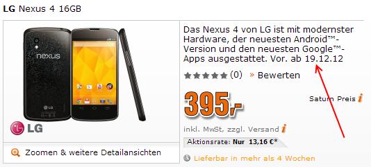 Nexus 4 Saturn 19. dezember screenshot