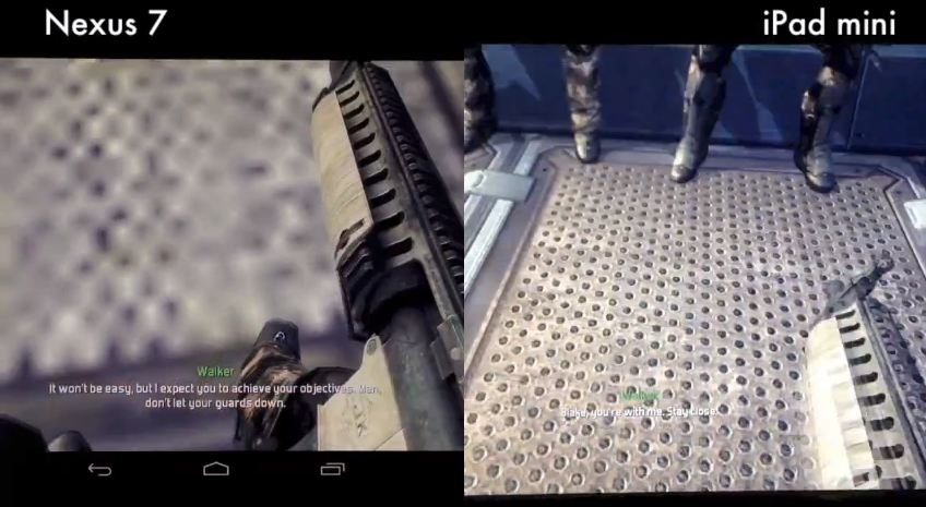 nexus 7 vs ipad mini modern combat 4