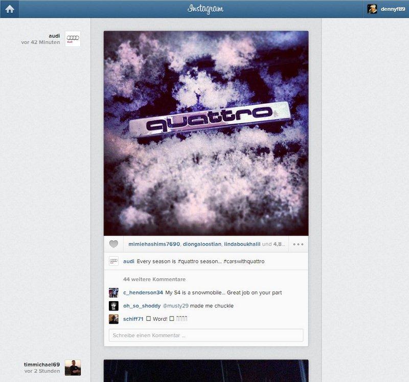 Instagramm Feed Screenshot