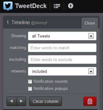TweetDeck-Spalten-Filter