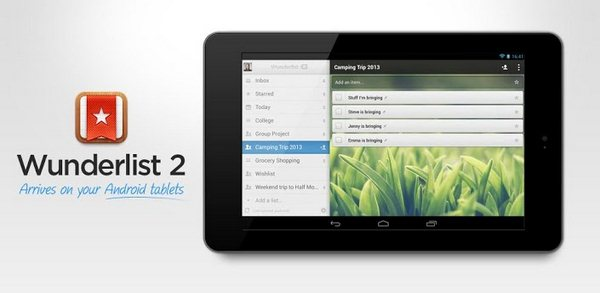 Wunderlist 2 Tablets