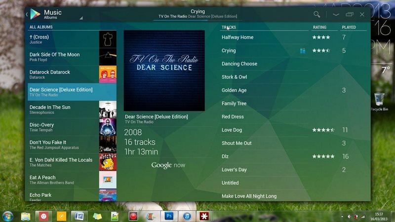 Google Play Desktop - desktop example