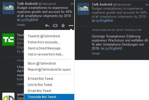 Bing Translator TweetDeck