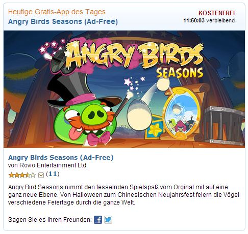 Gratis-App des Tages ABSeasons