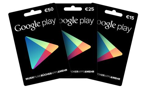 Google Play Geschenkkarten Euro