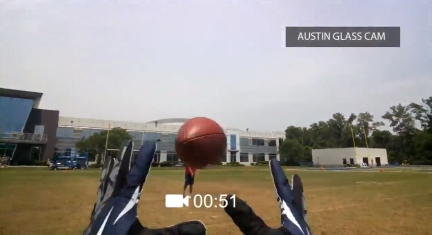 nfl google glass screenshot