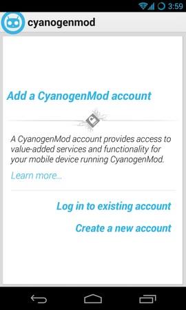 cm account screenshot