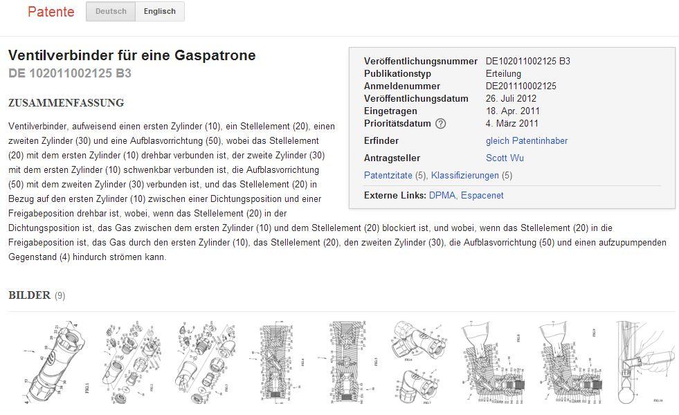 patentsuche screenshots