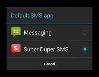 defaultSmsApp