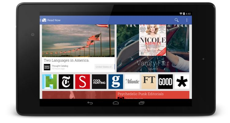 google newsstand nexus 7