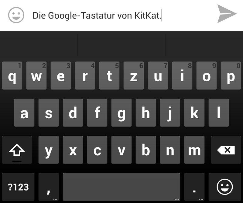 neue google tastatur aus android kitkat jetzt verf gbar. Black Bedroom Furniture Sets. Home Design Ideas