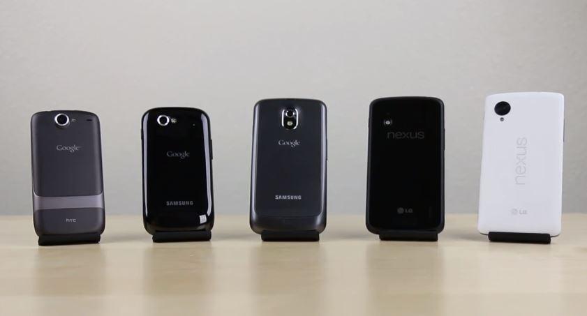 Nexus-Smartphone 2013 Vergleich