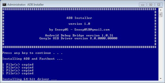 15 second adb installer