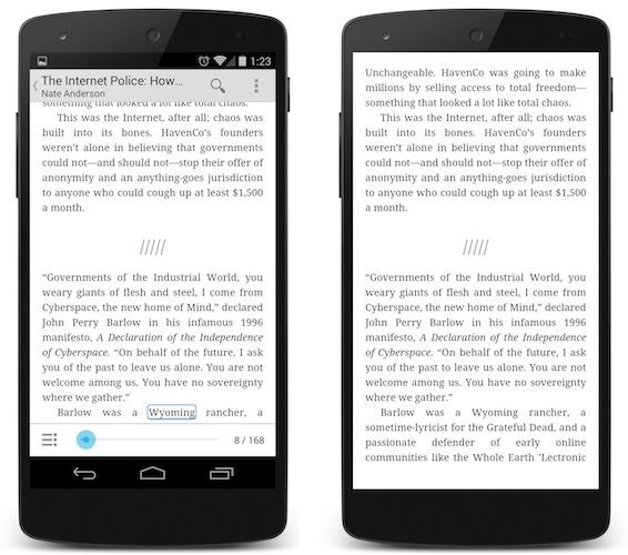Android 4.4 KitKat Vollbild