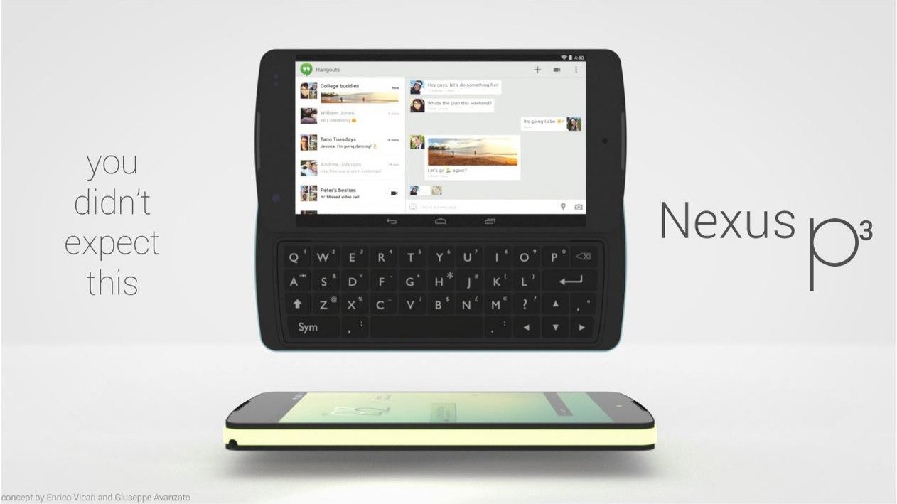 nexus p3 konzept vom smartphone mit wechselbarer tastatur. Black Bedroom Furniture Sets. Home Design Ideas