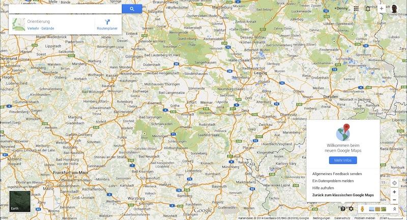 Google Maps 2014 Screenshot