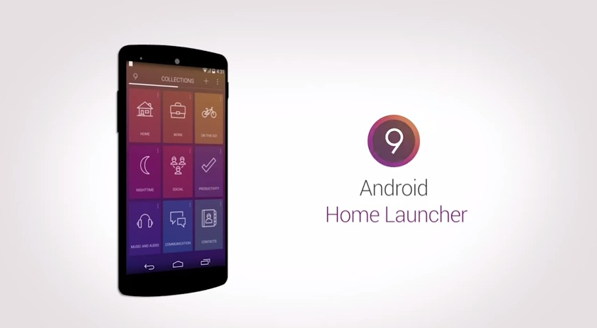 9 Cards Home Launcher für Android