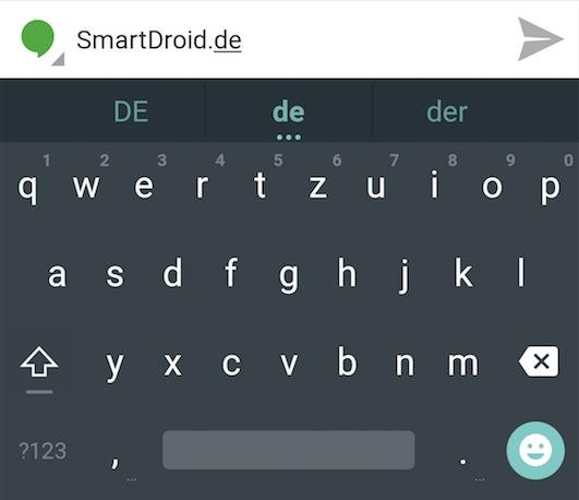 Android L Material Design Tastatur