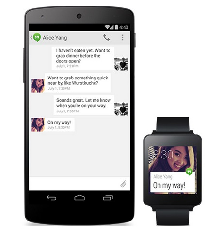 Android Wear mit Smartphone