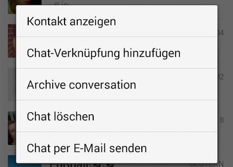 WhatsApp Archivierung