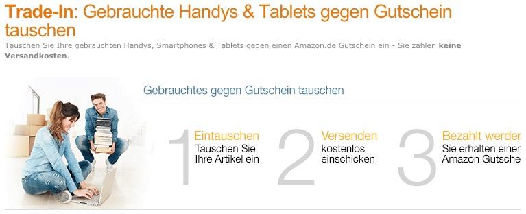 amazon trade in smartphones und tablets gegen gutscheine eintauschen. Black Bedroom Furniture Sets. Home Design Ideas